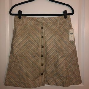 Anthropologie Muted Rainbow Striped Skirt